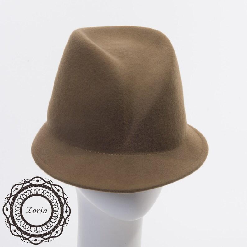 791570780 Fancy Fedora Blocked Untrimmed Wool Felt Hat Base | W0163A