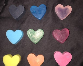 10 Decorative Heart Soaps