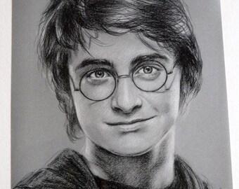 Poster Harry Potter portrait of Daniel Radcliffe reproduction 30 x 40 cm