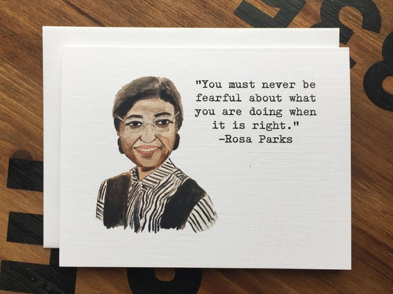 Rosa Parks Quote Note Card