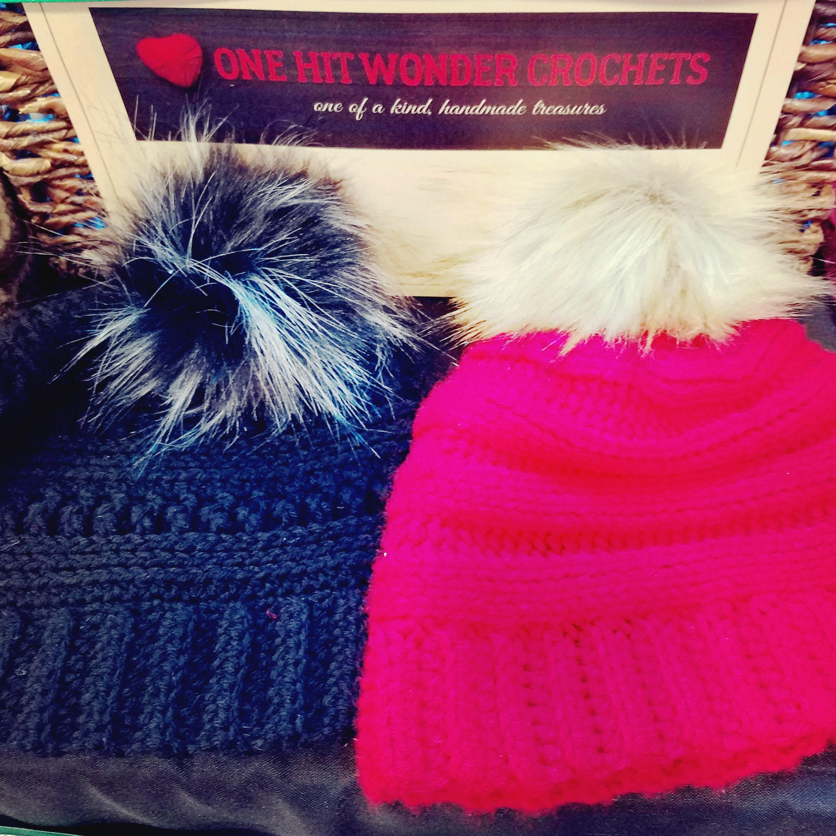 e04af1db528 Faux fur pom pom hat crochet hat adult winter hat beanie