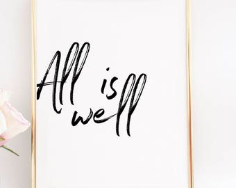 All Is Well Etsy