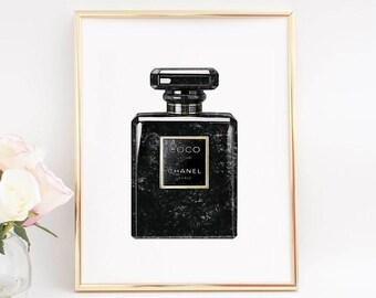 Coco Chanel Parfum,Chanel Paris Parfum,Chanel Wall Art,Chanel Illustration,Coco Chanel Decor,Women Gift,Chanel Poster,Chanel Print,Printable