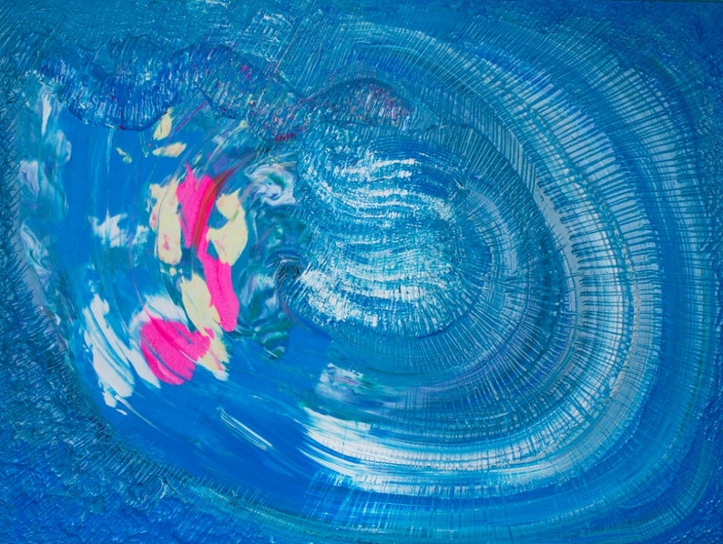 Blue Sky Storm painting acrylic  original abstract / image 0