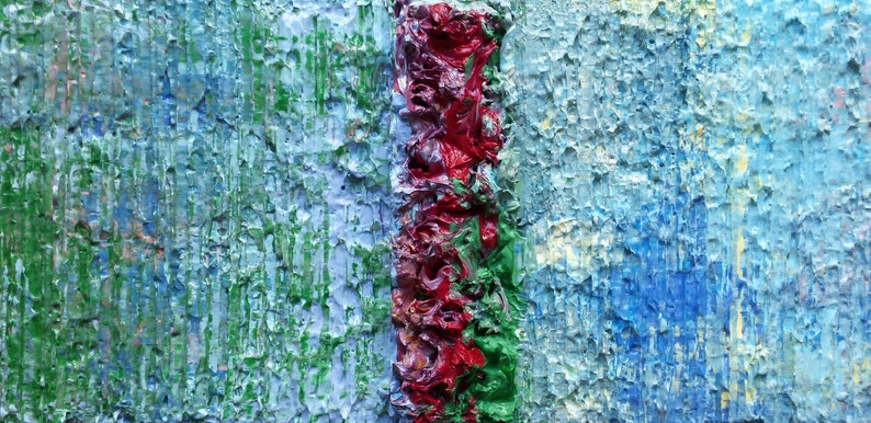 Blue Purple Green Red Abstract Yellow Painting OBSTACLE image 0