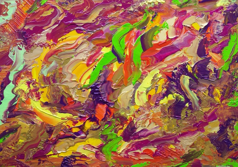 Yellow Gold Purple Green Bronze Red Dragon Abstract image 0
