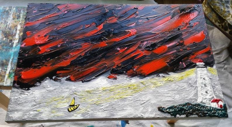 Large painting painting on canvas acrylic painting original image 0