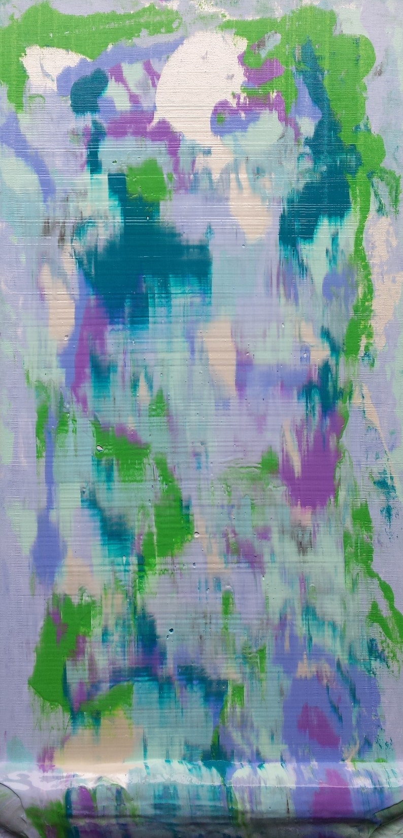 Purple Green Blue White Pastel Abstract Turquoise image 0