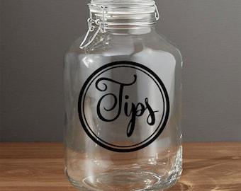 Tip Jar Decal Etsy