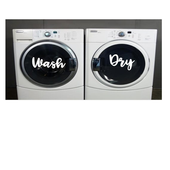 Wash And Dry Decals Laundry Room Decor Laundry Organizer Wash Dry Vinyl Decal Set Laundry Room Decal For Washer Vinyl Laundry Room Sticker