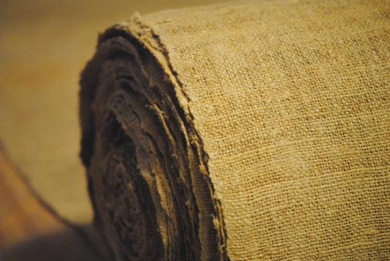 Rustic Hemp Fabric 100 Hemp Yardage Handspun Fabric Etsy