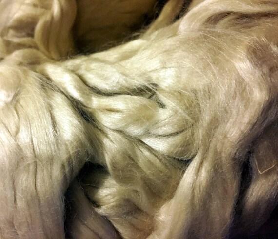Soie tussah Ruban Haut Roving Tissage filature feutrage Fibre Haute Quantité 50 g