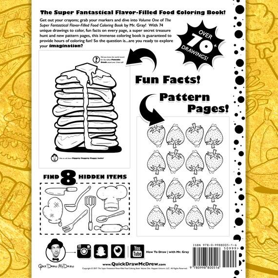 The Super Fantastical Flavor-Filled Food Coloring Book: Volume | Etsy