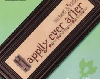 Cross Stitch for a new couple - Happily Ever After Wedding Keepsake
