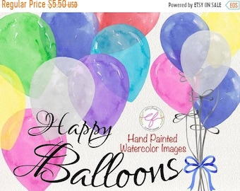 balloon clipart etsyon sale balloons watercolor clipart , balloon bundle, birthday clip art, balloons clipart, party clipart