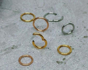 Smooth Hammered Silver,Rose or Yellow Gold,Tribal hoop Cartilage Earring Cartilage hoop Helix Earring,Helix piercing,Asymmetrical