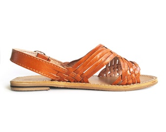 0e3348b54b05 Mexican Huaraches Cross weave leather