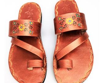 b38888b9b8de Women s Copper bronze Handmade Mexican Leather Sandal Huaraches Copper  bronze CZ08cpr