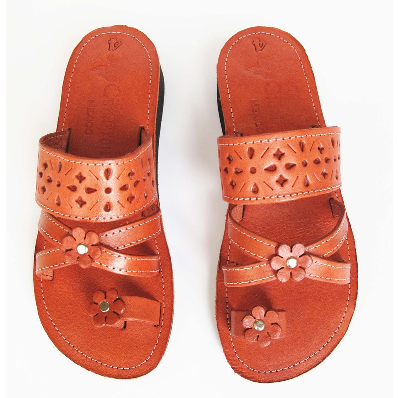 ea4071afc Women s Handmade Mexican Leather Sandal Huaraches Cafe