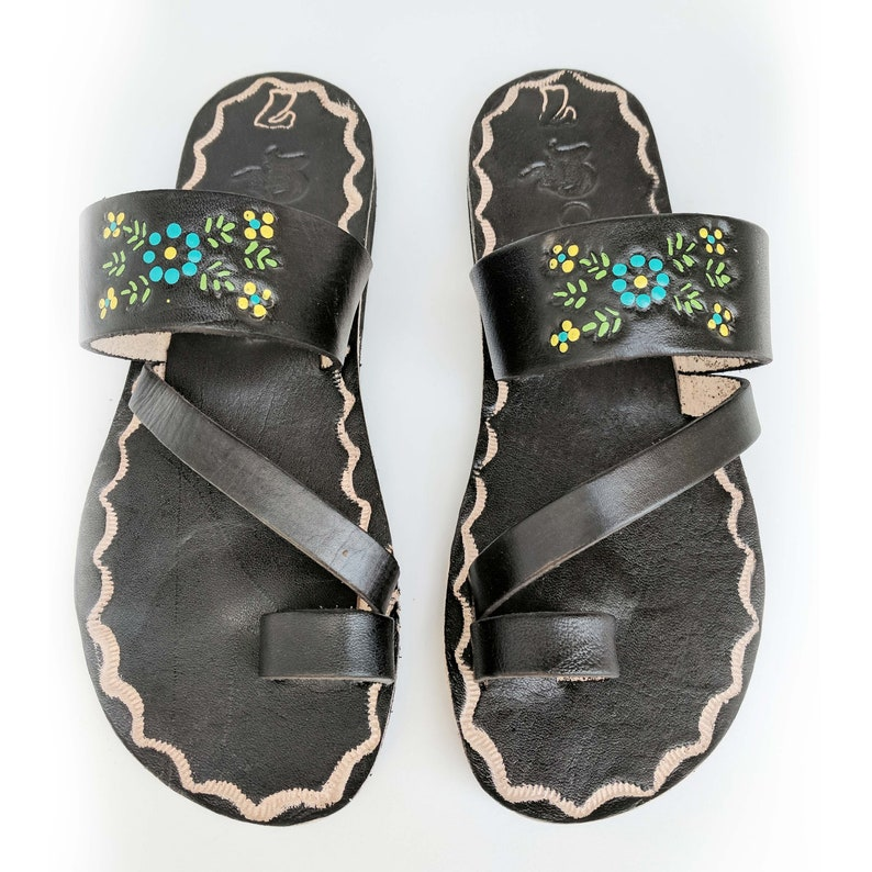 618a66a26 Women s Dark Black Handmade Mexican Leather Sandal