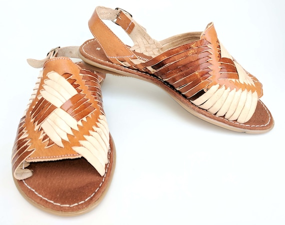 71f83068ee93e Mexican Huaraches Cross weave leather Women s new