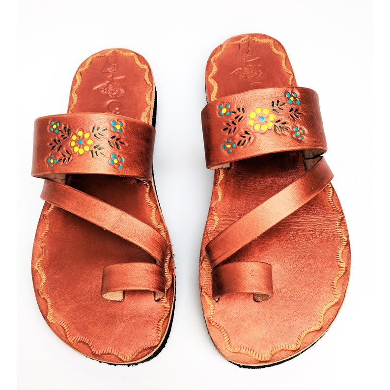 71fb1e575 Women s Copper bronze Handmade Mexican Leather Sandal