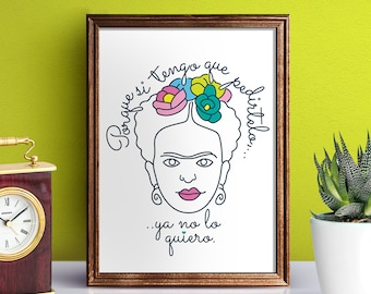 PRINTABLE QUOTES - Frida Love // print it anywhere you want  // Frida Kahlo // illustrator file // vector