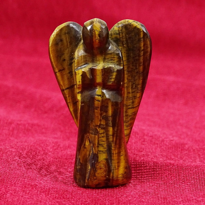 Sunstone Carved Angel Gift Reiki Psychic Spiritual Gemstone Guardian 2 Inch