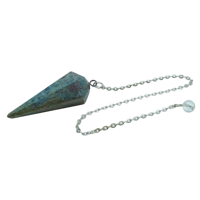 Rose Quartz Stone Faceted Cone Pendulum Dowsing Reiki Gemstones Spiritual Gift