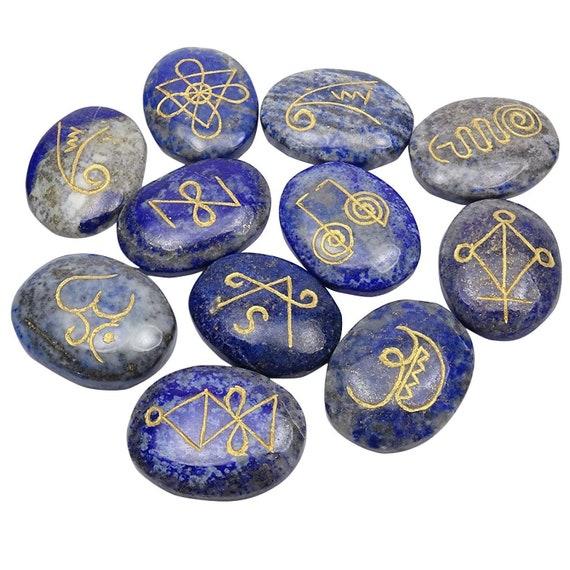 Black Tourmaline oval shape 7 pcs palm stones foe reiki healing peace aura