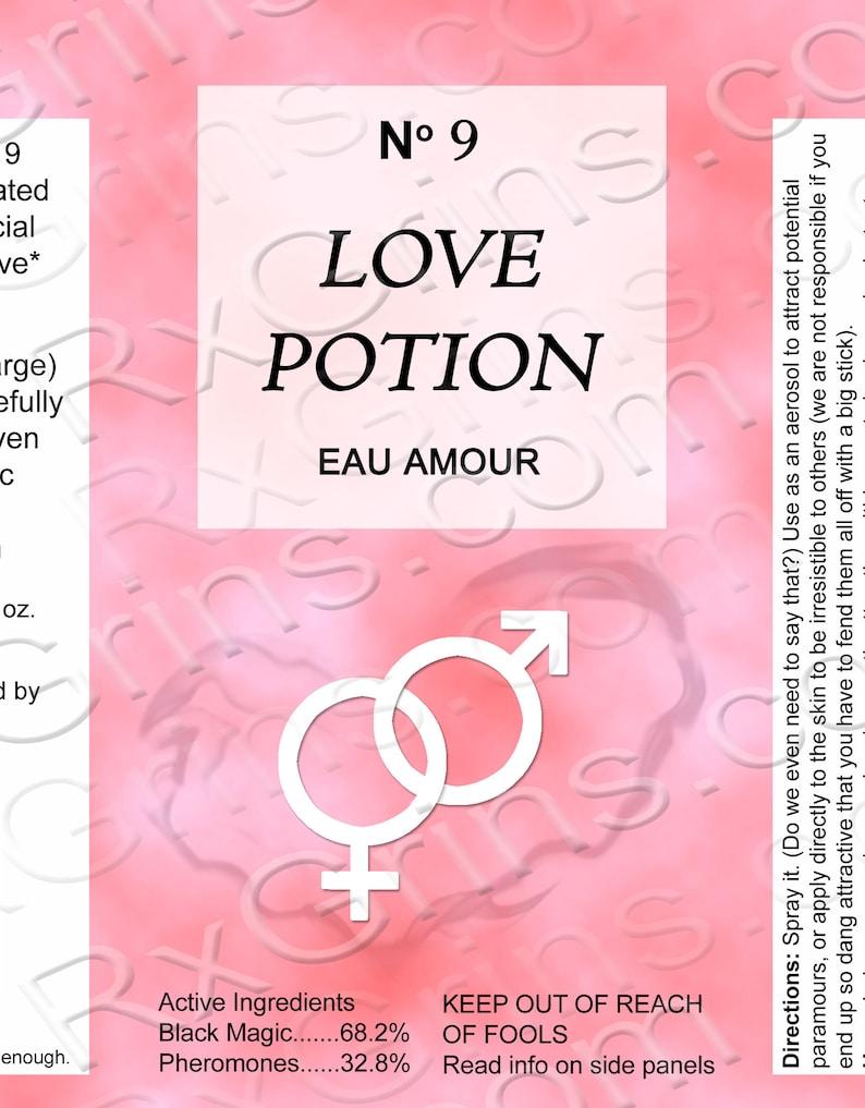 Valentine/'s Boyfriend Funny Valentine/'s Day Gift for Him or Her 9 Boyfriend Gift Valentine/'s Day Gag Gift: Love Potion No