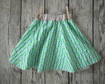 Sweet girl skirt, green/beige, Gr. 110/116