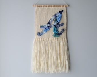 Wall Weaving | Loom | Wall Hanging | Tapestry | Initial/Letter Typography