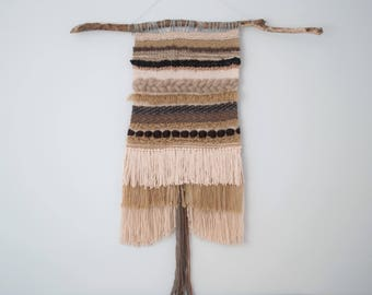 Large Neutral Wall Weaving | Loom | Wall Hanging | Tapestry
