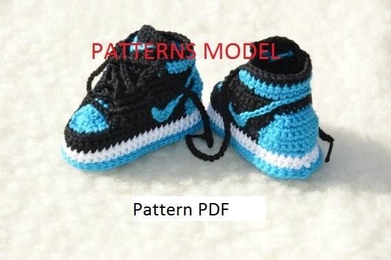 CROCHET PATTERN Nike Air Jordan 1 Häkeln Baby Booties Muster | Etsy