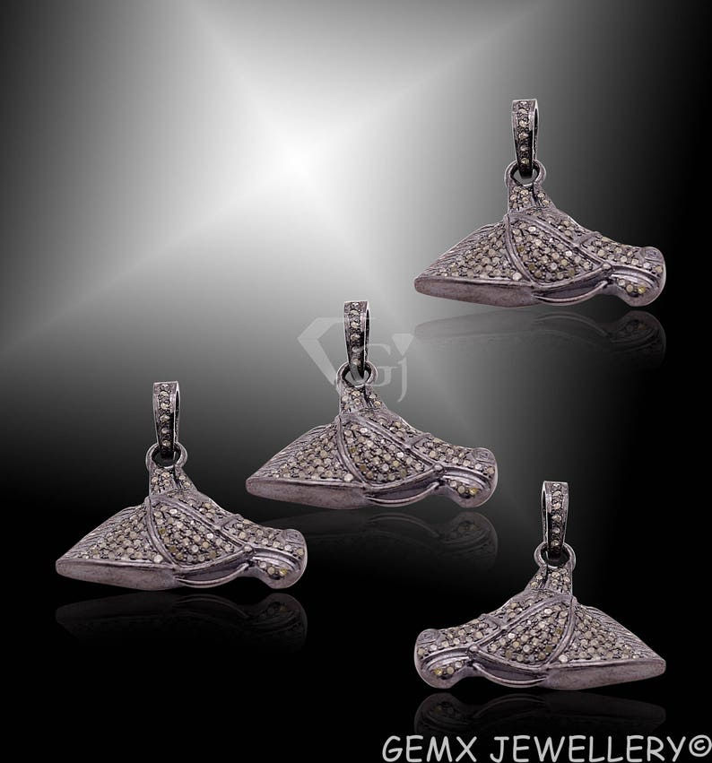Pave Diamond Charms Diamond Horse Head Charms And Pendant 23x33mm Diamond Horse Head Necklace Charms And Pendant DBDS-0188
