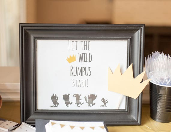 picture about Let the Wild Rumpus Start Printable referred to as Allow the Wild Rumpus Commence Indication - Printable Indication - Wherever the