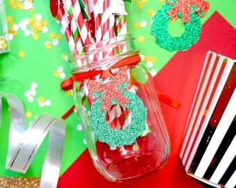 Christmas Tags, Christmas Wreath Tags, Christmas Gift Tags, Holiday Gift Tags, Christmas Favor Tags, Christmas Package Tags, Christmas Party
