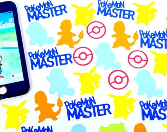 Pokemon Confetti, Pikachu, Charmander, Squirtle, Bulbasaur, Pokeball, Table Decor, Party Supplies, Birthday Theme Party, Party Decor