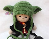 KNITTING PATTERN Wrinkle Yoda Baby Hat PDF