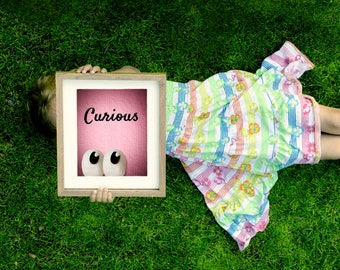 CURIOUS EYES; peekaboo; digital download; wall art; children; nursery; naif;