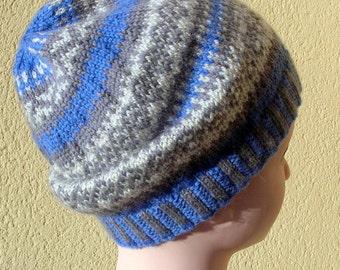 c030c742b64 Unisex Hand knitted Fair Isle Beanie Wool Hat Super Warm