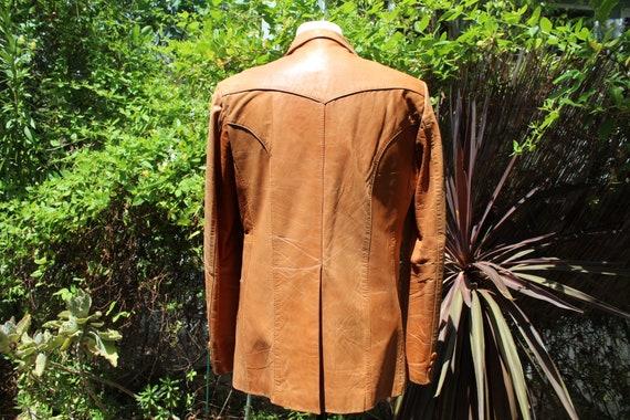 Vintage Wilson's Leather 70s Burnt Orange Brown B… - image 6