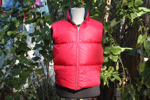 70s Red / Blue Vintage Montgomery Ward Down Puffer
