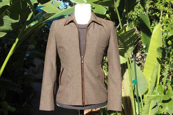 Vintage Brown Wool & Velvet Adolfo Jacket (Vintage