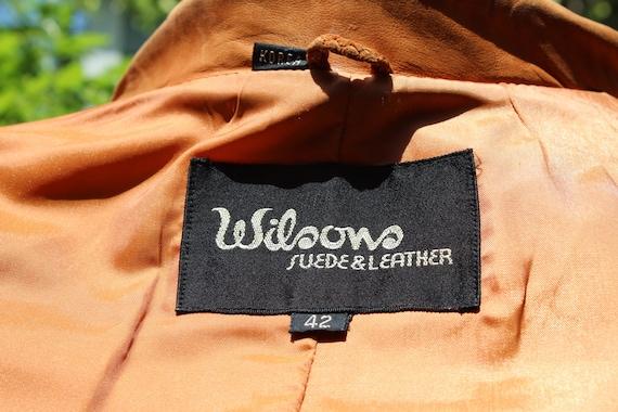 Vintage Wilson's Leather 70s Burnt Orange Brown B… - image 2
