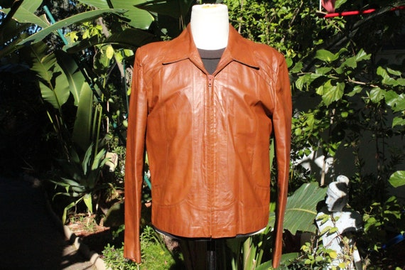 Vintage 70s Brown Wilsons Leather Motorcyle Jacket