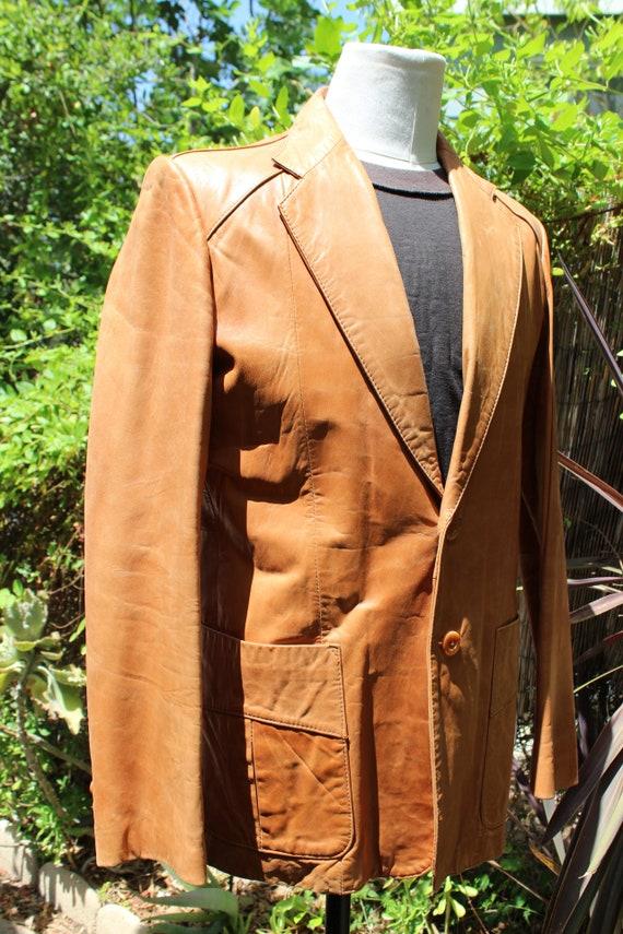 Vintage Wilson's Leather 70s Burnt Orange Brown B… - image 4