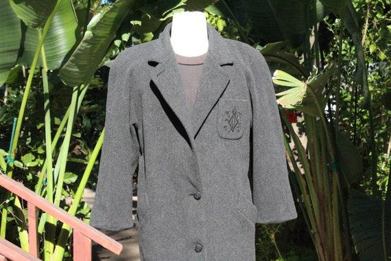 50s Grey London Fog Wool Overcoat Made in USA (Vin
