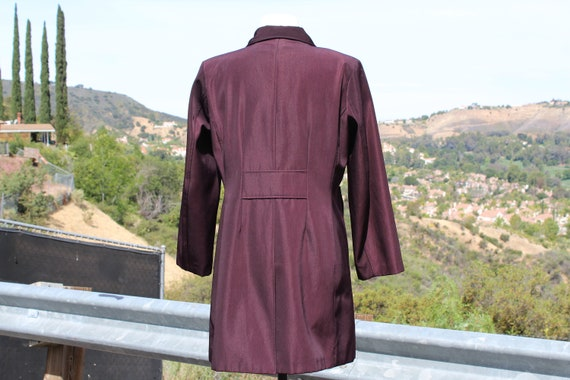 Unique Claspped Dark Red Blade Runner Overcoat Ra… - image 6